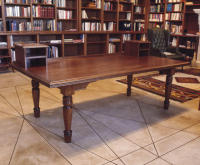 Mahogany desk for the home office and library of a well-known author of mystery novels.