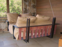 Spanish Cedar Porch Swing Bed, 24 x 56W x 89L (Full size)