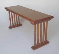 Cherry bench with natural finish