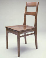 Walnut chair designed to complement a walnut drop-leaf desk previously built for client